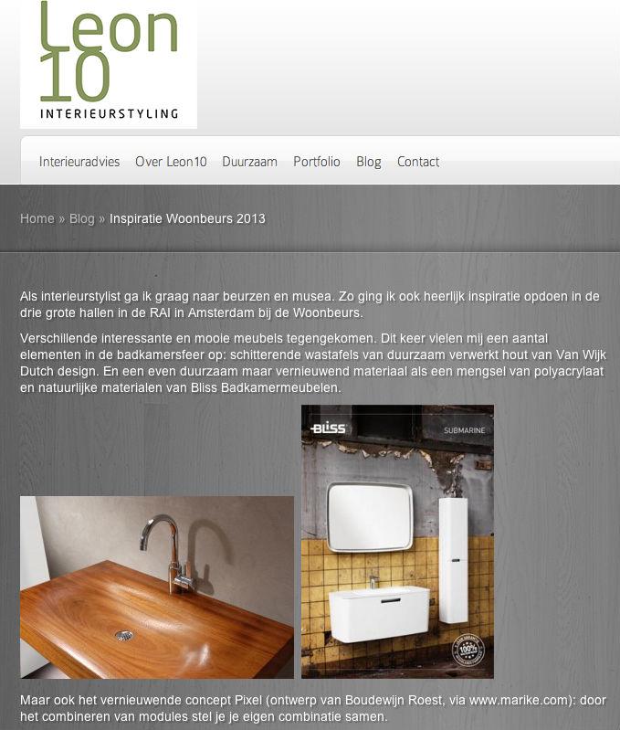 Dutch design op het blog van leon10interieurstyling.nl